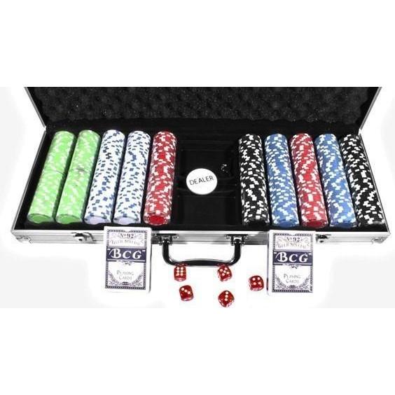 """Набор """"DUKE"""" для игры в покер в алюминиевом кейсе, 500 фишек. CG-11500"""