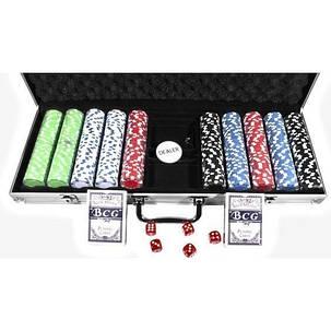 """Набор """"DUKE"""" для игры в покер в алюминиевом кейсе, 500 фишек. CG-11500, фото 2"""