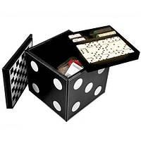 "Набор ""DUKE"" 6 игр: карты,шахматы,шашки,нарды домино,кости"