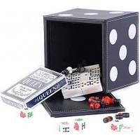 "Набор ""DUKE"" 5 игр: карты ,шахматы,шашки,домино,кости"