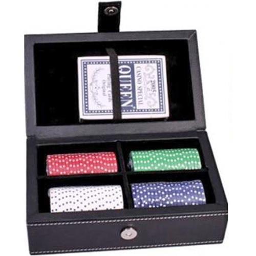 """Набор """"DUKE"""" для игры в покер в кожаном кейсе. PATF001"""