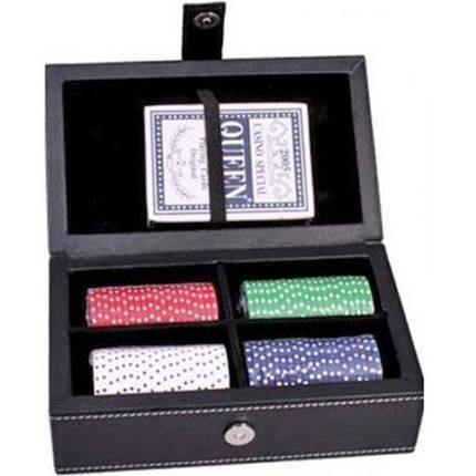 """Набор """"DUKE"""" для игры в покер в кожаном кейсе. PATF001, фото 2"""