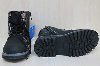 Черные демисезонные ботинки на мальчика тм SUN  р. 31, фото 2