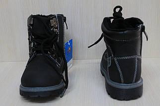 Черные демисезонные ботинки на мальчика тм SUN  р. 31, фото 3