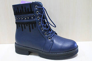 Высокие синие ботинки на девочку тм Tom.m р.36,37, фото 2