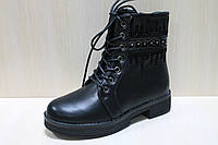 Черные ботинки на девочку тм Tom.m р.35,36,38