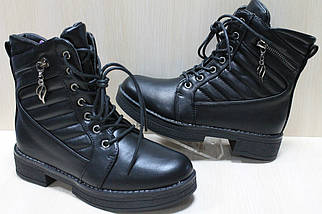 Демисезонные ботинки на девочку шнурки и молния тм Tom.m р.36, фото 3