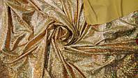 Ткань Бифлекс с напылением голограмма Золото