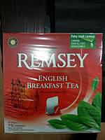 """Чай черный пакетированный english breakfast  """"Remsey"""" Ремсей"""