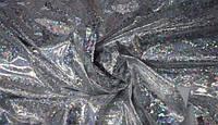 Ткань Бифлекс с напылением голограмма Серебро