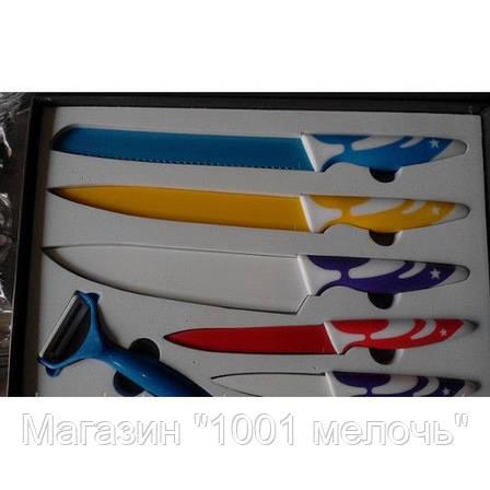 Набор ножей c керамическим покрытием 5шт + экономка, фото 2
