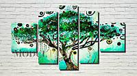 "Модульная картина ""Волшебное дерево"" масло, холст!"