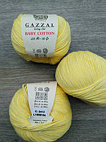 Gazzal Baby Cotton - 3413 светло-желтый