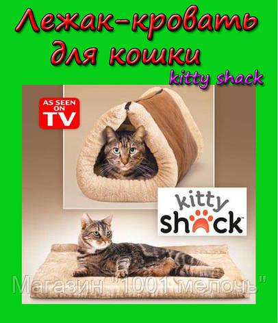 Лежак-кровать для кошки 2 in 1 Kitty Shack, фото 2