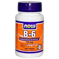 NOWВитамин Б 6B-6 50 mg (100 tab)