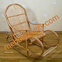 """Плетеная кресло-качалка """"Элит"""" из лозы на буковой основе"""