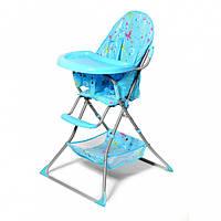 Детский стульчик для кормления BT-HC-0004 BLUE (сумка под сиденьем, пятиточечные ремни безопасности)