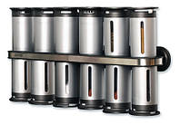 Набор контейнеров для специй Gravity Magnetic Spice Rack Zevgo 12 шт , фото 1