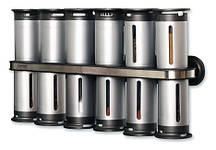 Набір контейнерів для спецій Gravity Magnetic Spice Rack Zevgo 12 шт