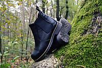 Модные ботинки натуральная кожа челси