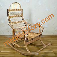 """Плетеная кресло-качалка из лозы на буковом каркасе """"Разборная"""""""