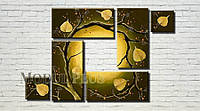 """Модульная картина """"Осеннее дерево"""" масло, холст!"""