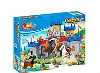 Конструктор Замок рыцарей: 166 крупные детали, звук, фигурки, лошадка