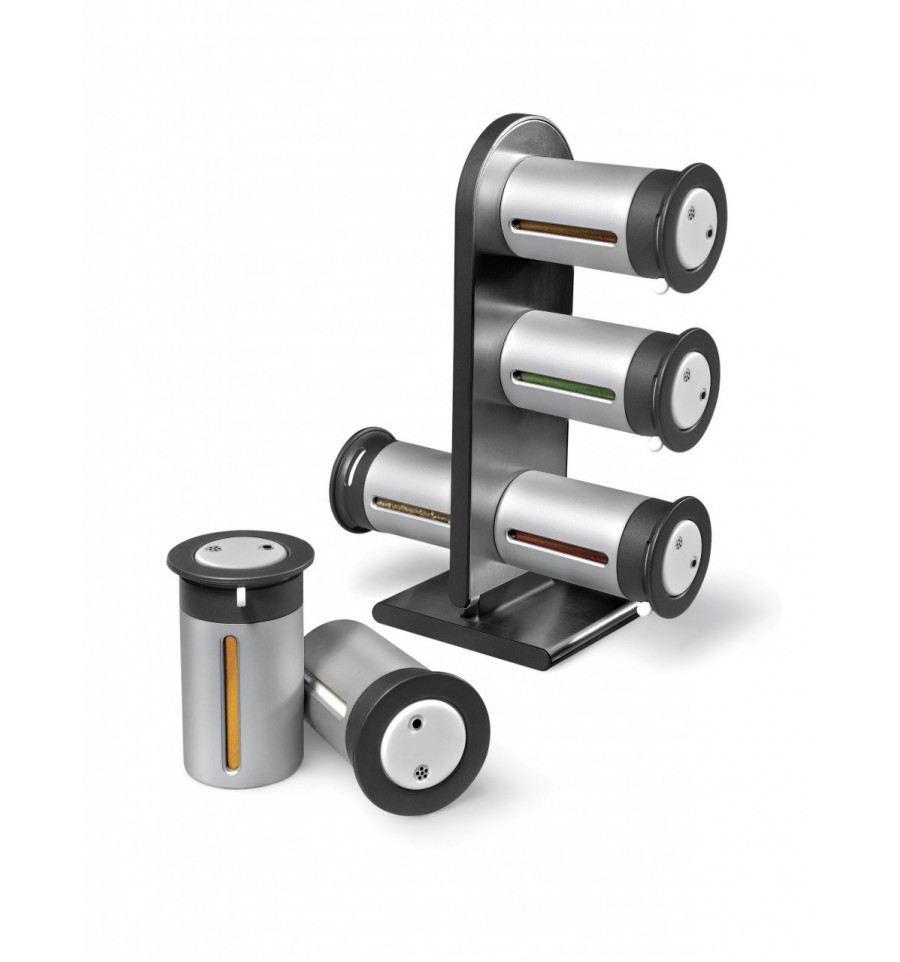 Набор контейнеров для специй Gravity Magnetic Spice Rack Zevgo 6 шт