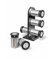 Набір контейнерів для спецій Gravity Magnetic Spice Rack Zevgo 6 шт