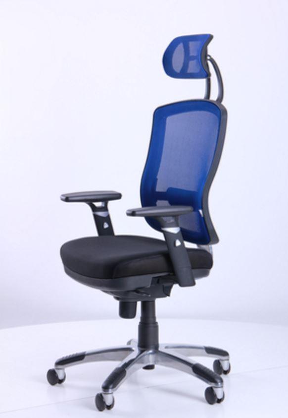 Кресло Коннект HR сиденье Сетка черная/спинка Сетка синяя (фото 7)