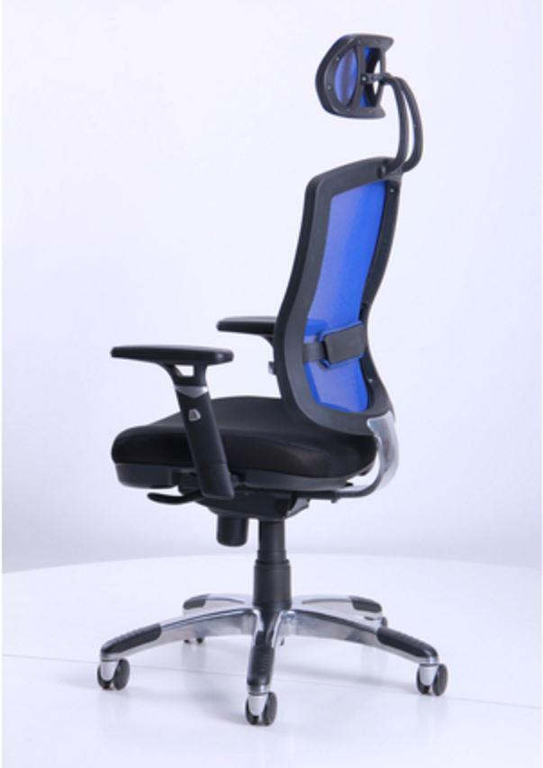 Кресло Коннект HR сиденье Сетка черная/спинка Сетка синяя (фото 8)
