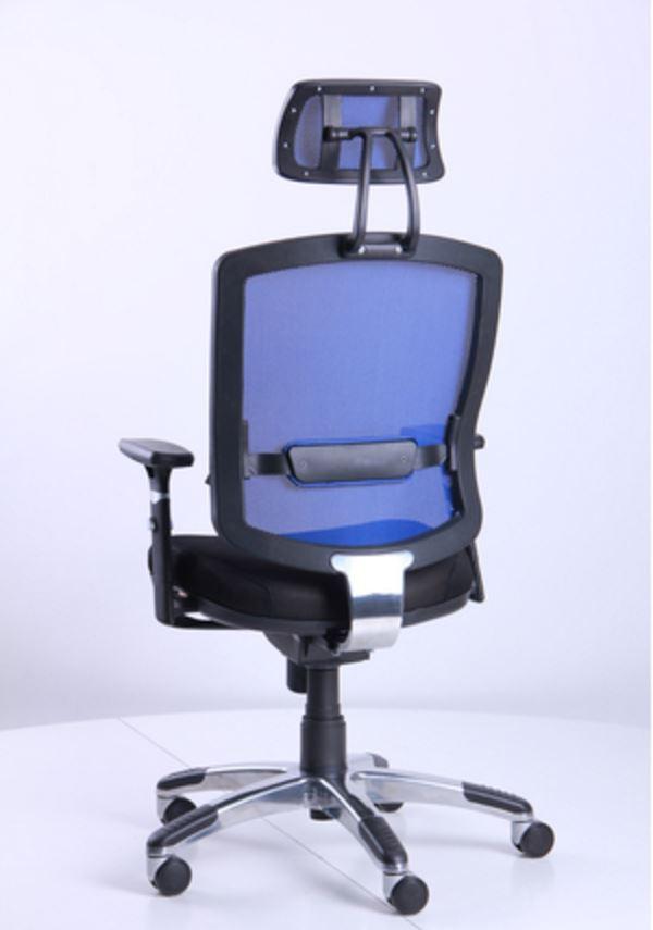 Кресло Коннект HR сиденье Сетка черная/спинка Сетка синяя (фото 9)