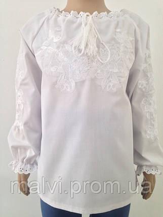 Вишита сорочка для дівчинки з довгими рукавами Батист  продажа e4d4ee07f31c0