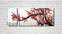 "Модульная картина ""Цветущее дерево"" масло, холст! 140х70"