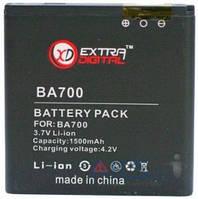 Аккумулятор Sony Ericsson C1505 Xperia E / BA700 / BMS6345 (1500 mAh) ExtraDigital