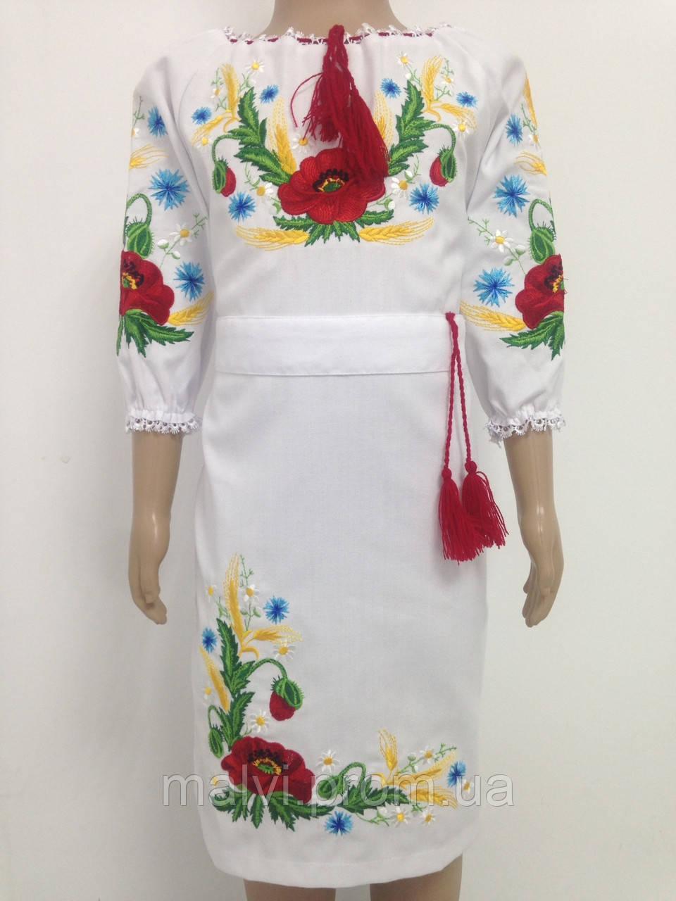 Вишите плаття для дівчинки з маками - Інтернет-магазин