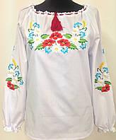 Жіноча вишита сорочка з різнобарвною вишивкою