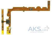 Шлейф для LG P700 Optimus L7 с разъемом зарядки, кнопкой Home и микрофоном
