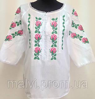 Вишиванка жіноча з трояндами льон  продажа 7059142da4ff9