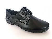 Туфли чёрные на шнурках мужские  Pilot - T-17