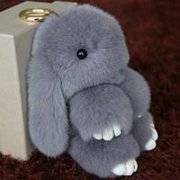 Меховой кролик брелок REX Fendi! Большой пушистый зайчик!