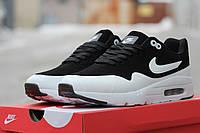 Кроссовки Nike Air Max 90 Ultra Moire черно-белые 1673