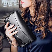 d9a18fefd6ca Круглая женская сумка-клатч кожаная crazy horse черная (ручная ...