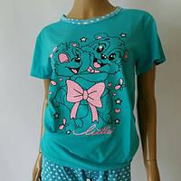 Пижама с шортами асма цветная