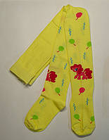 """Колготки лимонного цвета с пони """"Пинки Пай"""" для девочек"""