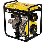 Мотопомпа дизельная Кентавр КДМ100Б (для чистой воды, 80 м. куб/час, ручной стартер) + доставка