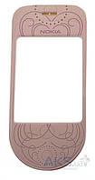 Стекло дисплея для Nokia 7373 Original Pink