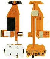 Шлейф для Nokia 6700 slide с разъёмом под дисплей,  верхним клавиатурным модулем и микрофоном (без камеры)