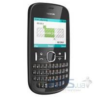 Передняя панель корпуса (рамка дисплея) Nokia Asha 201 black