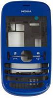Передняя панель корпуса (рамка дисплея) Nokia Asha 200 Dark Blue